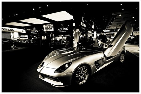 The 2009 Mercedes McLaren SLR Stirling Moss taken at the Detroit Auto Show