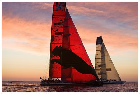 PUMA match racing Telefonica Black on the approach to Russia-credit Sally Collison-PUMA Ocean Racing