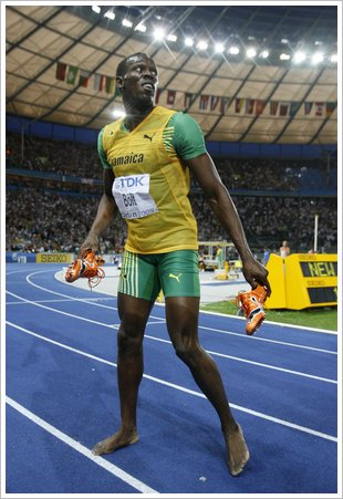 Usain Bolt wins 200m Getty Images