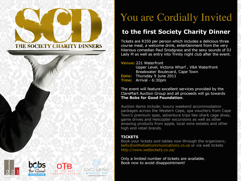 Philanthropy Meets Fun – The Society Charity Dinner – 2oceansvibe.com
