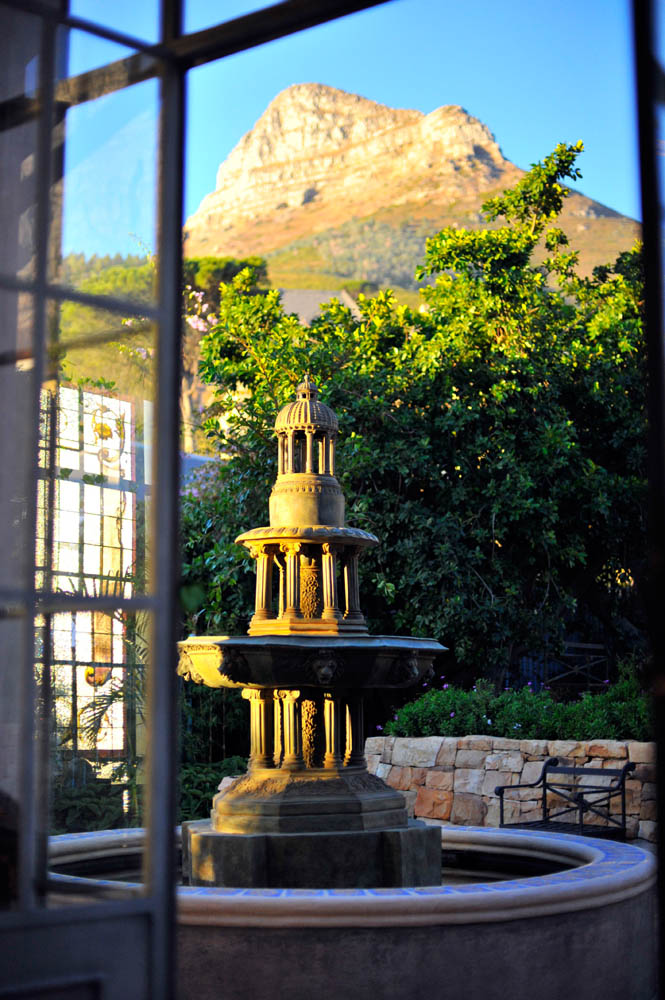 Fountain at west terrace