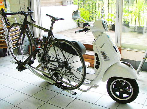 Modern Vespa Bicycle Rack On Vespa Anyone Have This Suggestions