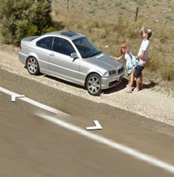 Sex on side of road