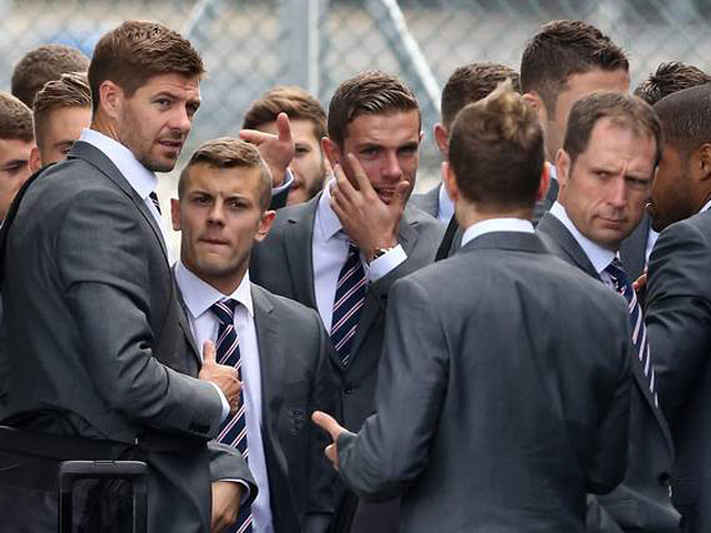 Soccer - World Cup 2014 - England Departure - Luton Airport