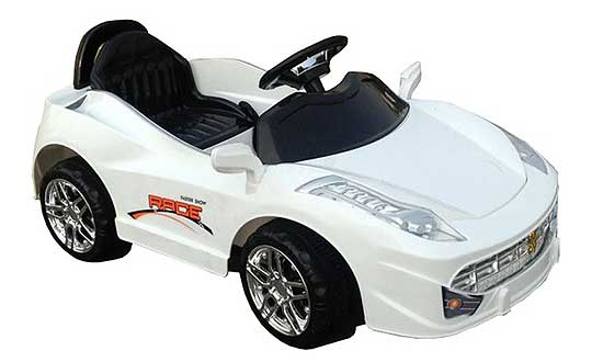 GENIUS: Electric Powered Kids' Car Has A Radio Control For The