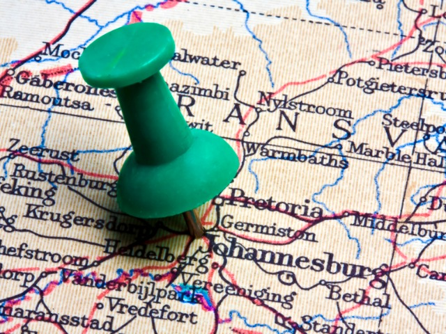 Johannesburg on an old map