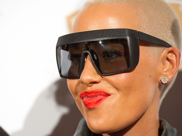 BEVERLY HILLS, CA - OCTOBER 16:  Host Amber Rose attends the XXIV Karat's Launch Party  at The Beverly Hilton Hotel on October 16, 2014 in Beverly Hills, California.  (Photo by Valerie Macon/Getty Images)