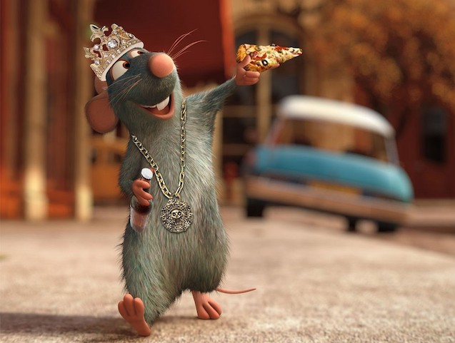 Rat-in-a-Crown-and-Necklace-Eating-Pizza-73436