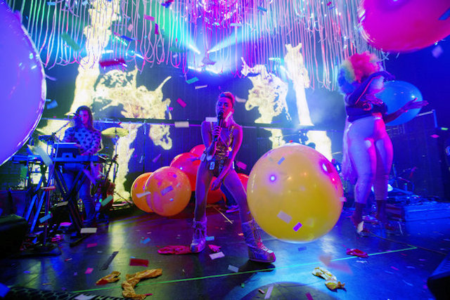 CHICAGO, IL - NOVEMBER 19: Miley Cyrus preforms at the opening night of the Miley Cyrus and Here Dead Petz tour at The Riviera Theatre on November 19, 2015 in Chicago, Illinois. (Photo by Tasos Katopodis/Getty Images)