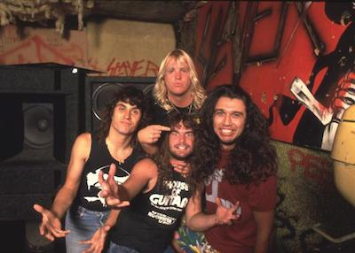 (NO AGENCIES IN UK, FRANCE, GERMANY, HOLLAND, SWEDEN, FINLAND, JAPAN.) Slayer 1986 during Music File Photos 1980's at the Music File Photos 1980's in los angeles, . (Photo by Chris Walter/WireImage)
