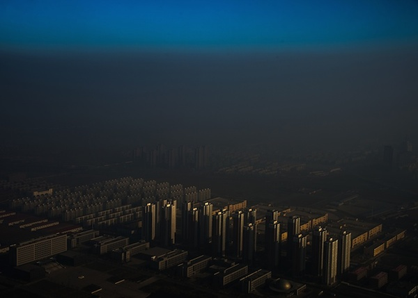 Contemporary issues, first prize, singles - Zhang Lei Tianjin, a city in northern China, shrouded in haze Photograph: Zhang Lei/World Press Photo 2016