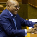 President Jacob Zuma is seen at the start of a joint sitting of Parliament's two Houses to debate last week's state of the nation address in Cape Town, Tuesday, 17 February 2015. Picture: Nardus Engelbrecht/SAPA