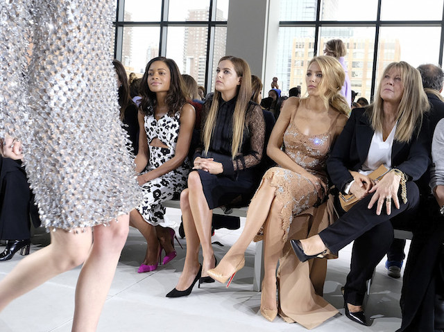 NEW YORK, NY - FEBRUARY 17:  Naomie Harris, Riley Keough, Blake Lively, and Elaine Lively attend the Michael Kors Fall 2016 Runway Show during New York Fashion Week: The Shows at Spring Studios on February 17, 2016 in New York City.  (Photo by Dimitrios Kambouris/Getty Images for Michael Kors)