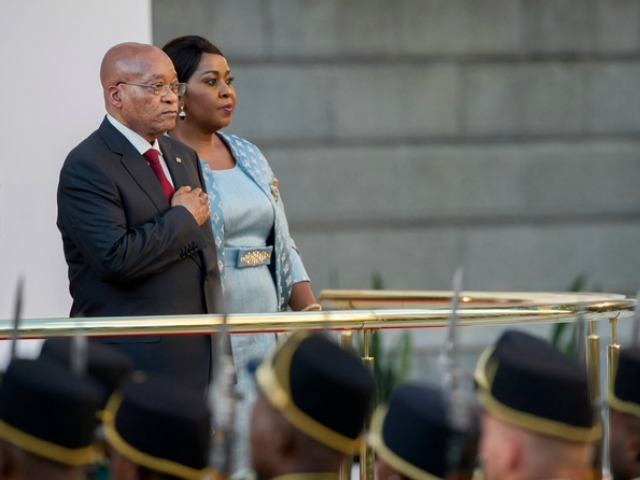 epa05155022 South African president Jacob Zuma (L) takes the national salute before delivering the annual State of the Nation Address in Cape Town, South Africa, 11 February 2016. Various political parties clashed whilst several protests against the president took place across the country on the day of the opening of parliament where embattled South African president Jacob Zuma delivers his State of the Nation address outlining governments programme of action for the year. Zuma has been facing increased pressure from all sectors to step down with corruption scandals surrounding his office. South Africa's Constitutional Court is still to decide whether President Jacob Zuma should pay back state money he used to upgrade his private residence.  EPA/RODGER BOSCH/POOL