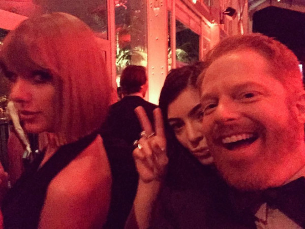 TAYLOR SWIFT, LORDE & JESSE TYLER FERGUSON The Modern Family star goofed around with both singers.