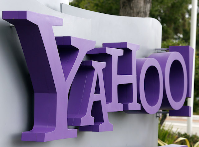 SUNNYVALE, CA - JULY 17:  The Yahoo logo is displayed in front of the Yahoo headqarters on July 17, 2012 in Sunnyvale, California.  Yahoo will report Q2 earnings one day after former Google executive Marissa Mayer was names as the new CEO. Photo by Justin Sullivan/Getty Images)