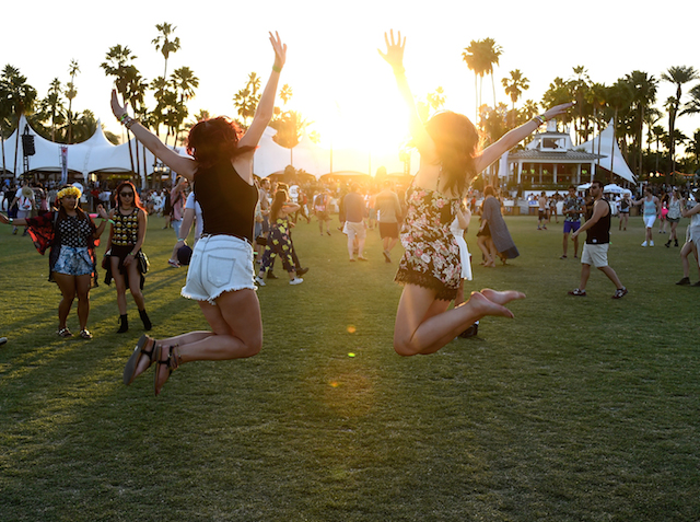 INDIO, CA - APRIL 17:  Music fans attend day 1 of the 2015 Coachella Valley Music And Arts Festival (Weekend 2) at The Empire Polo Club on April 17, 2015 in Indio, California.  (Photo by Frazer Harrison/Getty Images for Coachella)