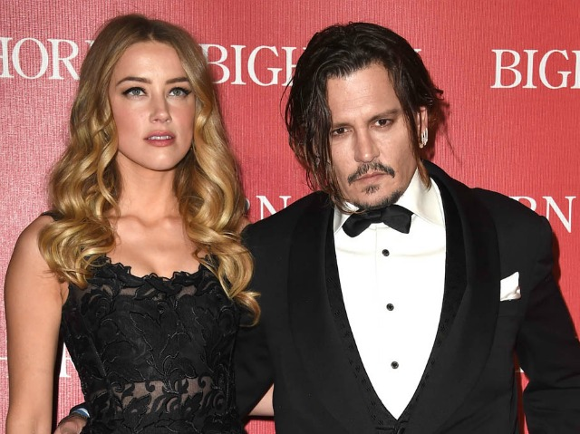 PALM SPRINGS, CA - JANUARY 02:  Amber Heard and Johnny Depp arrives at the 27th Annual Palm Springs International Film Festival Awards Gala at Palm Springs Convention Center on January 2, 2016 in Palm Springs, California.  (Photo by Steve Granitz/WireImage)