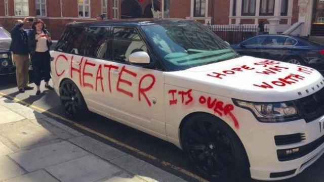 Crazy Woman Loses Her Cool With Cheater SprayPaints Insults All - Cool painted cars