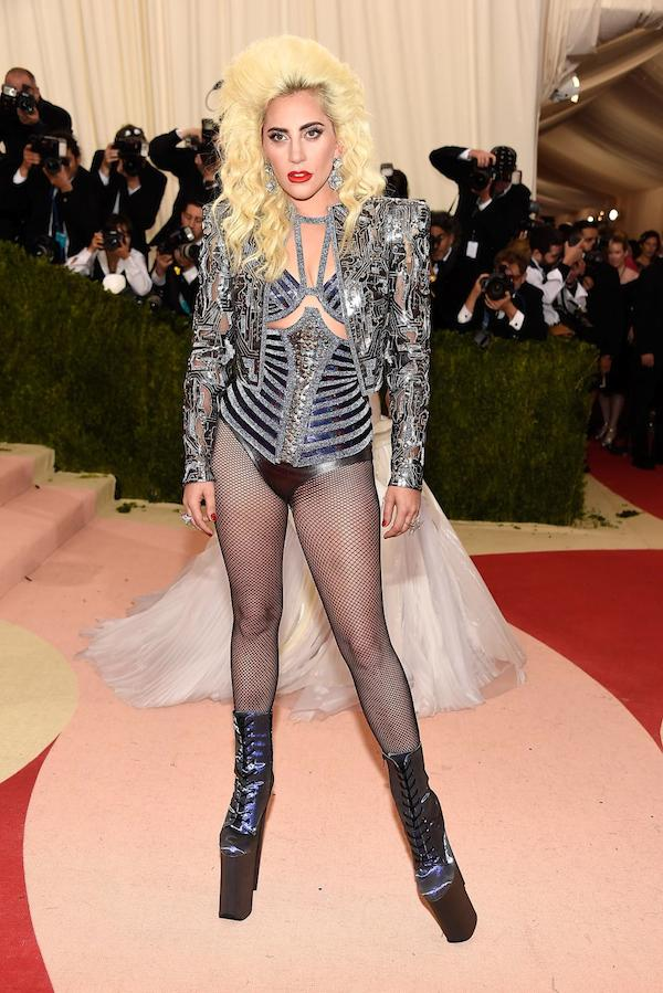 """NEW YORK, NY - MAY 02: Lady Gaga attends """"Manus x Machina: Fashion In An Age Of Technology"""" Costume Institute Gala at Metropolitan Museum of Art on May 2, 2016 in New York City. (Photo by Kevin Mazur/WireImage)"""