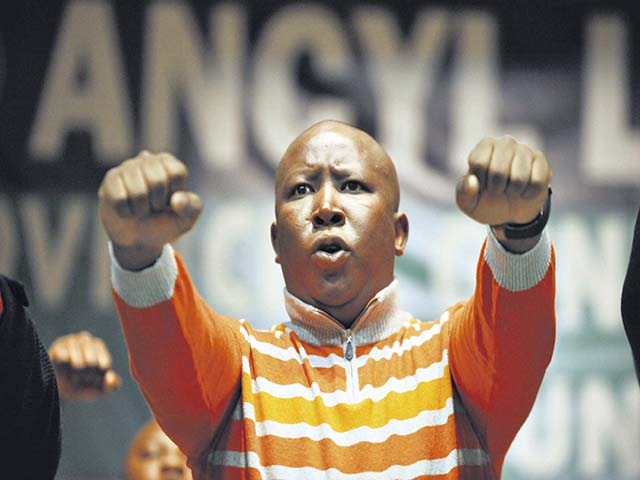 POLOKWANE, SOUTH AFRICA ñ JUNE 4: ANCYL president Julius Malema at the ANCYL Provincial General Council on June 4, 2011 in Polokwane, South Africa where Malema expressed his respect for former president Thabo Mbeki. (Photo by Gallo Images/Sowetan/Elijar Mushiana)