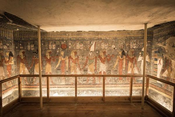The tomb area of Horemheb