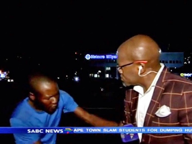 Vuyo Mvoko mugged on SABC live TV