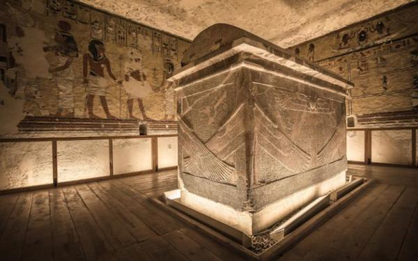 The burial chamber inside the tomb of Ay, the penultimate king of Egypt's 18th dynasty and the predecessor to King Tutankhamun