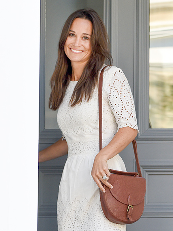 Newly engaged Pippa Middleton leaves her home wearing an engagement ring. Today Tuesday 19th July 2016 Picture by Peter Jordan for The Sun newspaper