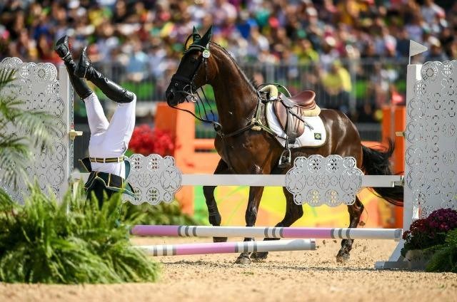 """%¼½¸8<ž=""""Zc¾^ÐDH#qòŒPÿÙRio , Brazil - 9 August 2016; Ruy Fonseca of Brazil, on Tom Bombadill Too, during the Eventing Team Jumping Final at the Olympic Equestrian Centre, Deodoro, during the 2016 Rio Summer Olympic Games in Rio de Janeiro, Brazil. (Photo By Stephen McCarthy"""