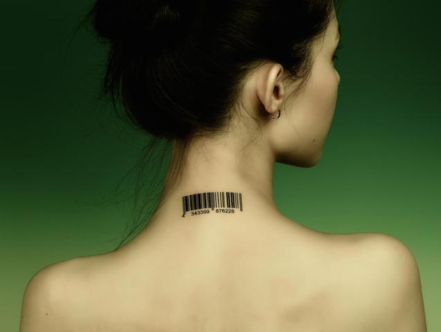 black-barcode-tattoo-on-girl-back-neck