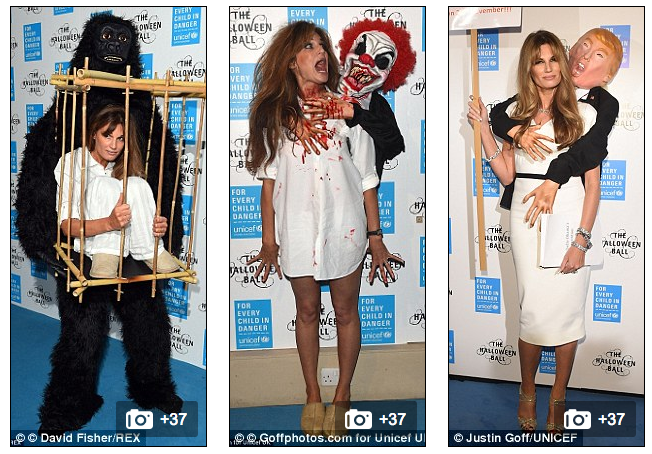 Jemima Khan's Melania And Donald Trump Halloween Costume Is Just ...