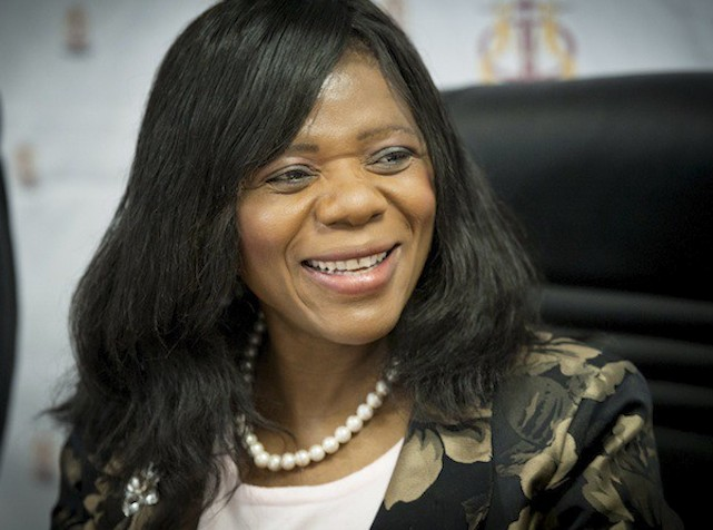 PRETORIA, SOUTH AFRICA - SEPTEMBER 25: Public Protector Thuli Madonsela on September 25, 2013, in Pretoria, South Africa. Madonsela spoke out about an investigation on the Gamagara municipality in the Northern Cape. There are discrepancies in their expenses as well as a misuse of government-allocated funds. (Photo by Gallo Images / Foto24 / Lisa Hnatowicz)