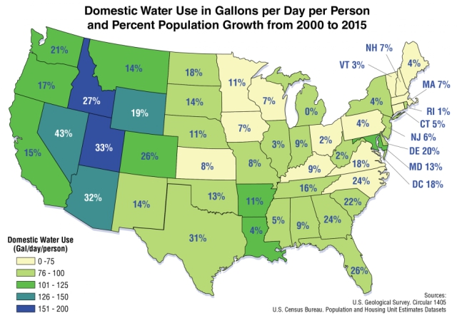 Have A Guess How Much Water The Average American Uses Every Day 2oceansvibe News South African And International News