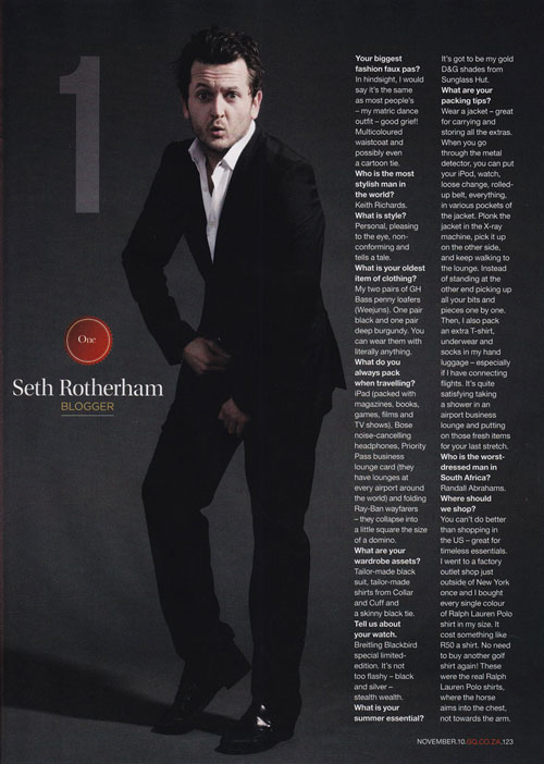 Seth Rotherham - GQ Best Dressed Man 2010