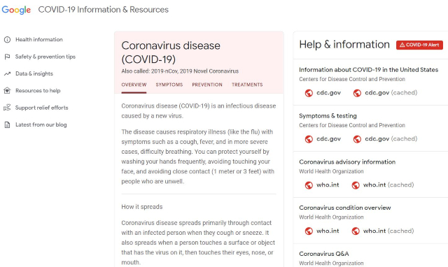 Google Coronavirus Website Launches Parallel To Expanded COVID-19 Search Experience
